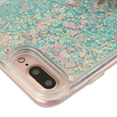 iPhone 6/6S Coque - 3D Design Créatif Prime Luxe Shine Flow Sand Adorable Flowing Flottant Mouvement Shine Glitter Sequins Bling Cute Pattern Téléphone Case pour iPhone 6/6S - Born to Shine 6-A