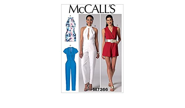 McCall \'s Damen Schnittmuster 7366 Strampelanzug, Jumpsuits & Gürtel ...