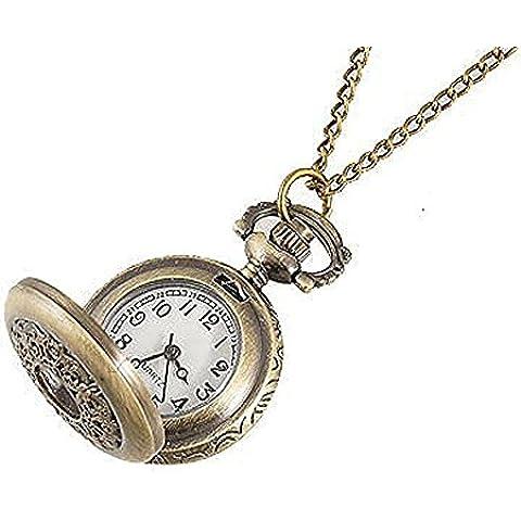SODIAL (R) Collana orologio da tasca Bronzo Per Donne