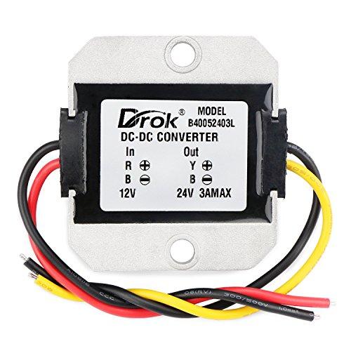 DROK® DC-DC da 12V a 24V Convertitore boost di tensione,