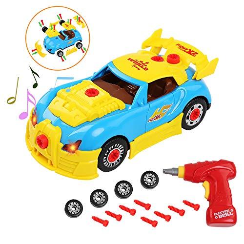elzeugauto, Konstruktions Rennwagen für Kinder Super Spaß beim zusammenbauen Bauen Sie Ihr eigenes Spielzeug-Kit Take Apart Spielzeugauto Kindergeschenk ()