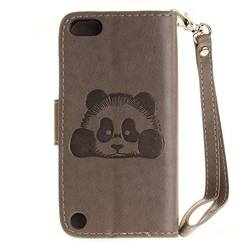iPhone Case Cover Normallack 3D Netter Panda prägte PU-lederne Fall-Abdeckung mit Lanyand Karten-Schlitzen für IPod-Note 5 6 ( Color : 8 , Size : IPod Touch 5 6 ) 2
