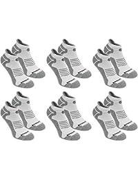 BRUBAKER Chaussettes de sport - Lot de 6 Paires - Talon renforcé et Languette douce - Idéales pour Running, Cyclisme, Fitness - Unisexe