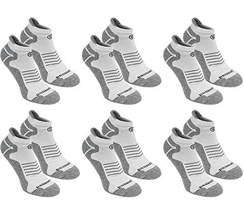 BRUBAKER Chaussettes de sport - Lot de 6 Paires -