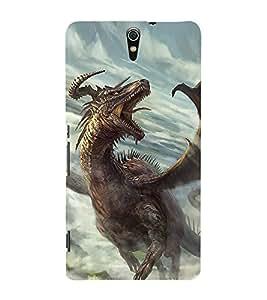 ifasho Designer Back Case Cover for Sony Xperia C5 Ultra Dual :: Sony Xperia C5 E5533 E5563 (Dragon Jinan China Bhiwani)