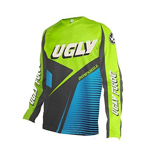 Uglyfrog Manica Lunga Magliette Uomo MTB Downhill Il Collo Rotondo Primavera Jersey Mountain Bike Abbigliamento