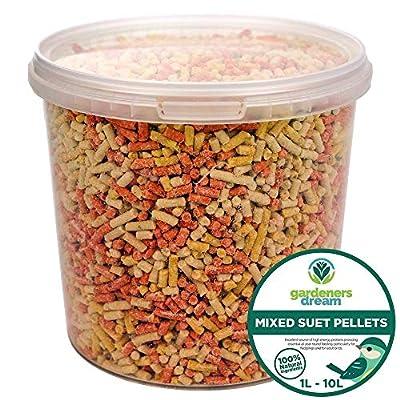 GardenersDream Mixed Suet Pellets - High Energy Insect, Berry & Mealworm Wild Bird Food by GardenersDream
