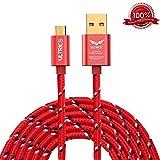 ULTRICS Cable Micro USB 3 Mètres, Nylon Tressé Charge Cable Données Sync Chargeur...