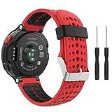MoKo Garmin Forerunner 235 Smartwatch bracelet, Watch Band flexible en silicone avec des outils pour Forerunner 235/220/230/620/630/735 Montre de Running GPS avec Cardio au Poignet, Rouge