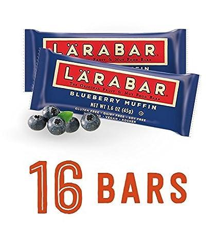 Blueberry Muffin, 16 Bars, 1.6 oz (45 g) Each by Larabar