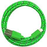 1m Nylon USB Ladekabel Datenkabel kompatibel mit [Apple iPhone 10 X 8 8 Plus 7 7 Plus 6S 6S Plus 6 6 Plus 5S 5C 5 SE, iPad | iPod] grün
