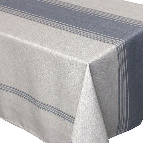 Nappe rectangle 150x200 cm imprimée 100% polyester BISTROT Gris