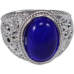 Silvestoo India Blue Stone Ring Sz 10 PG-111792
