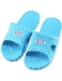 JAGENIE Sommer Home Dusche Damen Sandalen Slipper Indoor Outdoor Beach Spa Hausschuhe Blau 37