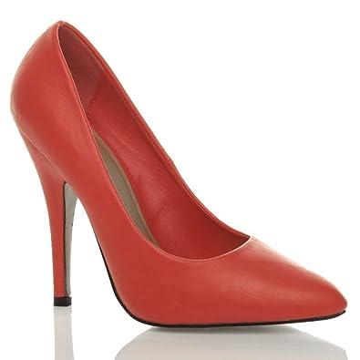 Womens ladies high heel stiletto pointed classic work pumps court ...