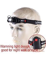 vyage (TM) Zoom en/out 160lúmenes Q5LED faro faro linterna iluminación para exteriores con SOS modo para la caza/Ciclismo/Camping/escalada