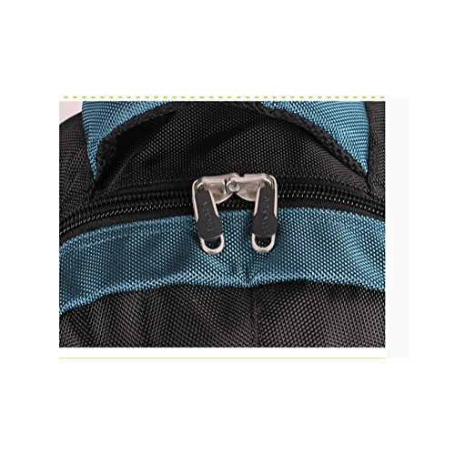 Zaino scolastico da scuola di viaggio per Zaini da 15 pollici impermeabile nylon impermeabile per uomini e donne , dark blue black