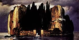 The Museum Outlet - Island of the dead ones by Arnold Bocklin - Poster (24 x 18 Inch)