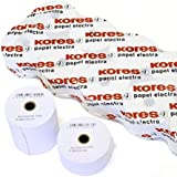 PACK 8 ROLLOS PAPEL TERMICO 80X60X12MM KORES