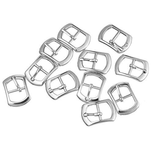 Rainbabe Silber Ton Farbe Metall Schuh Schnalle Zubehör Kurzwaren Verzierung Ergebnisse 30 Stück (Silber) -
