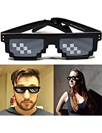 ILOVEDIY Lunette Thug Life Noir Glasses 8 Bit Pixel Deal with It Sunglasses  Lunettes de Soleil 2b9614c552fa