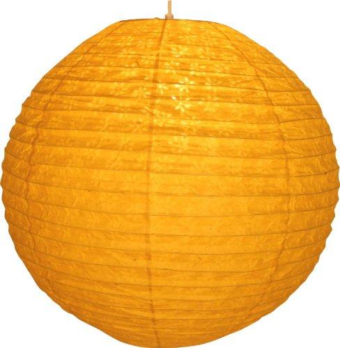 Corona round 50 cm Reispapierlampenschirm / Leuchten & Sterne / Variante: Farbe: gelb