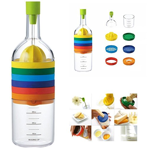 Itian 8 en 1 Multifunción Botella Herramienta de Cocina --- Embudo, Exprimidor de Limón, Especias...