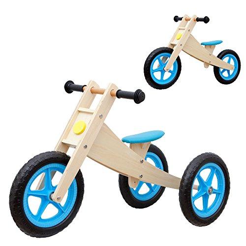 Vinz Laufrad 2 in 1 | Kinderlaufrad Lernlaufrad Lauflernrad | ab 1 Jahre (18 Monaten) | Kinder Fahrrad Dreirad Kinderdreirad (Blau)