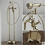 LINA@ Antike Chaiselongue im europäischen Stil-Kupfer-Gold Etage Bad Duschkabine set Dusche Wasserhahn