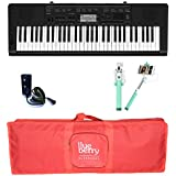 Casio CTK3500 keyboard with Adapter & Blueberry Red Bag along with Selfie Stick