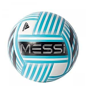 adidas Men's Messi Glider Ball, White/Blanco/Azuene/Negro/Grisua, Size 4