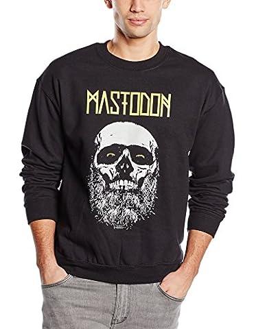 Mastodon Men's Admat Long Sleeve Sweatshirt, Black, X-Large