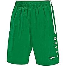 Jako–Pantaloni sportivi da calcio Torino, Uomo, Fußball Sporthose Turin, Sport verde/bianco, XXL