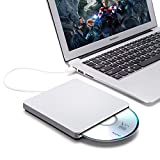 Masterizzatore DVD Esterno USB 2.0, BESTRUNNER DVD-RW Scrittura / Lettore CD / DVD per Windows 2000/XP/Vista/7/8/8.1/10, Mac OS, Apple Macbook, Laptops, Desktop Argento
