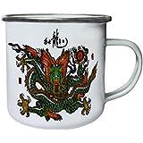 Nuevo Dragón Floreciente Retro, lata, taza del esmalte 10oz/280ml l632e