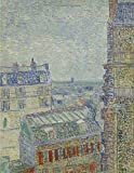 View from Theo's apartment, Vincent van Gogh. Blank journal: 150 blank pages, 8,5x11 inch (21.59 x 27.94 cm) Soft cover