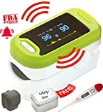 #10: DELUX TRUSTCARE Fingertip Pulse Oximeter With Audio-Visual Alarm