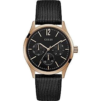 Guess Reloj Analógico para Hombre de Cuarzo con Correa en Cuero W1041G3