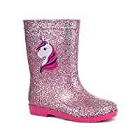 ZONE - Kids Pink Unicorn Glitter Welly