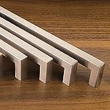 Set da 10 x SO-TECH® Maniglie per Mobile E8 vero Acciaio Inox Distanza Fori 96 mm Maniglie per Cucina