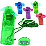 Mini Ventilator in 4 Farben Handventilator Miniventilator Hand Ventilator Umhängeband Lüfter (grün)