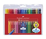 Faber-Castell Wallet of 20 GRIP Colour Markers