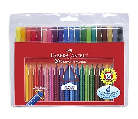 Faber-Castell 155320 Feutre GRIP Colour étui de 20