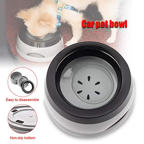 Wellouis Dog Water Bowl Splash-Free Pet Bowl Car Carried Water Bowls for Dog Cats Pet