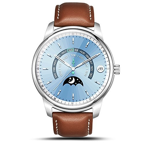 Smart Watch LEMFO LEM1 Pro Super Slim Bluetooth Fitness Tracker Smartwatch with Leather Band (Pro Sliver)