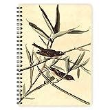 etmamu 442 Notizblock Vögel Flycatcher A5, 60 Blatt blanko