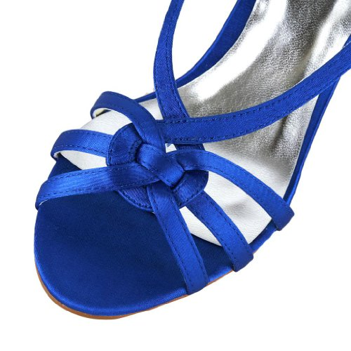 Jia Jia Wedding 1417 chaussures de mariée mariage Escarpins pour femme Bleu