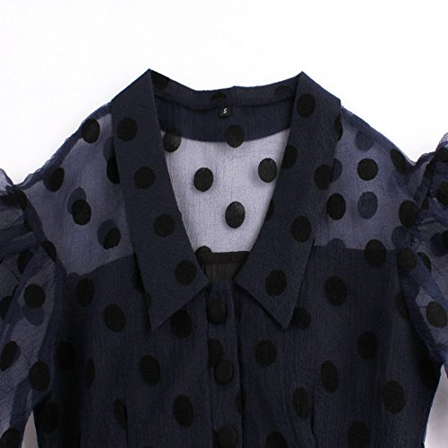 ... Vertvie Damen Kleider Sommerkleider Elegant V-Ausschnitt Chiffon Swing  Kleider Schwingen Vintage Rockabilly kleid Faltenrock ...