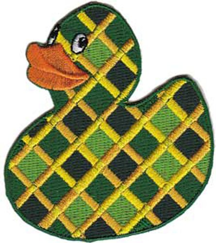 green-chex-rubber-ducky-officially-licensed-artwork-high-quality-iron-on-sew-on-28-x-3-embroidered-p