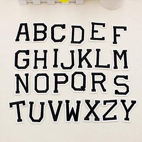 26gestickte Aufnäher, Design Alphabet Buchstaben A-Z, zum Nähen oder Aufbügeln, für Jeans / Stoff (Stoff Eisen-auf Buchstaben-patches)